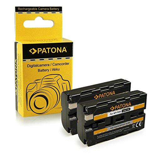 2x Batería NP F550 Sony BC V615 | DCM M1 | DCR TRU47E