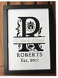 Personalisiertes Bild mit Monogramm, Namen und Datum *Hochzeitsgeschenk*Hochzeitsjubiläum*Geschenk*Personalisiert*