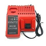 JQS Chargeur Multi pour MILWAUKEE M12-18 C pour MILWAUKEE 12 V 14,4 V 18 V Li-Ion batterie M18 48-59-1812, 48-59-1807, 48-59-1806, 48-59-1840, 2710-20 M12 48-11-2401,M12 Batterie outils