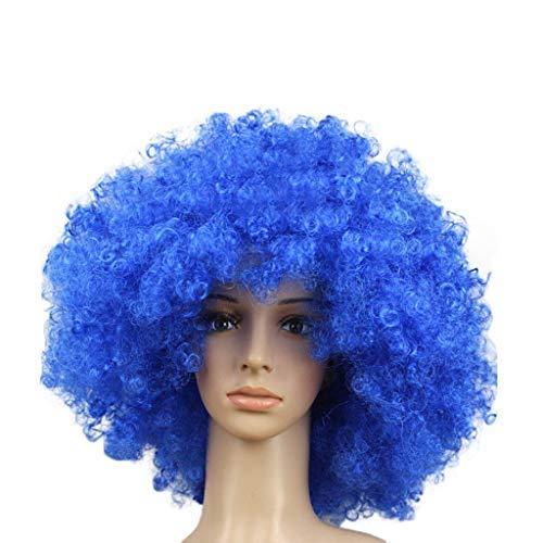 Afro-Clown-Haar-Fußball-Fan-Erwachsener Afro-Maskerade-Haar-Perücke Flauschige erwachsene Kinder der Big Bang-Kopfperücke können komisch lustig tragen Perücken ()