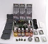 Karpfenangeln Tackle Box Set mit führt Liquid Flavours PVA Rigs Shots & More NGT