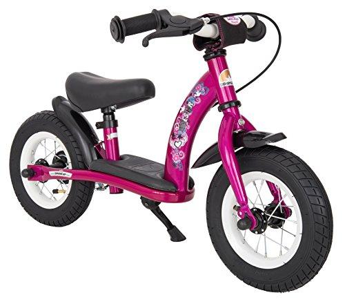 BIKESTAR Bicicleta sin pedales para niños  10 pulgadas  Color Violeta  A...
