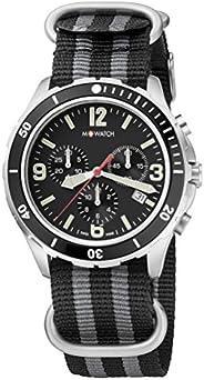 M-WATCH Swiss Made Aqua Steel 41 Analog Black Dial Men's Watch-WBD.1442