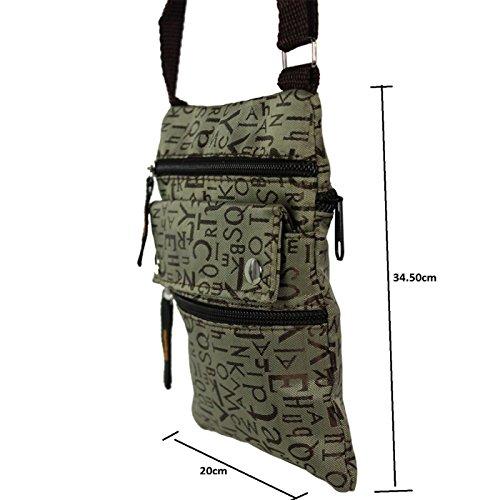 Glamexx24 Borsa a tracolla borsa a spalla o per mano in diversi motivi e colori Rosso