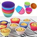 Banggood 12 pcs Silicone Cake Cupcake Cu...