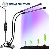 LED-Beleuchtung mit Timer, 18W, 36-Duschkopf mit LED, Rot, Blau, für Zimmerpflanzen Gewächshaus, Garten Hydrokulturen–9, dimmbar, 3/8/12h-Timer-Funktion, um 360° verstellbarer Schwanenhals