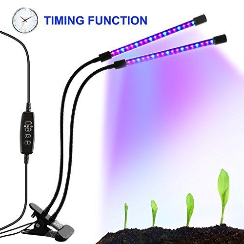 LED-Beleuchtung mit Timer, 18W, 36-Duschkopf mit LED, Rot, Blau, für Zimmerpflanzen Gewächshaus,...