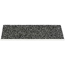 Outdoor - Sicherheitsstufenmatte - Außenstufenmatte 2 Ausführungen (Pfeffer-Salz mit Alu Kante) …
