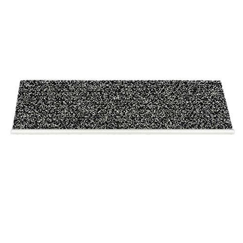 Kettelservice-Metzker Outdoor - Sicherheitsstufenmatte - Außenstufenmatte Pfeffer-Salz mit Alu Kante 1 Stück