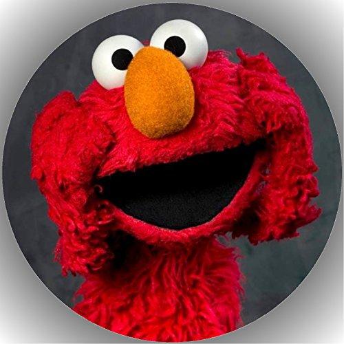 Fondant Tortenaufleger Tortenbild Geburtstag Sesamstarße Elmo T8