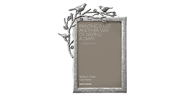 John Lewis Pewter Bird Photo Frame 4 X 6 10 X 15cm Amazon