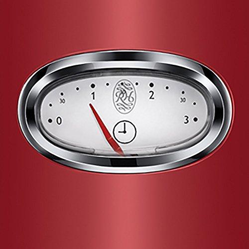 Russell Hobbs 21680-56 Retro Ribbon Red Toaster mit stylischer Countdown-Anzeige, Schnell-Toast-Technologie, 1300 W, rot - 3