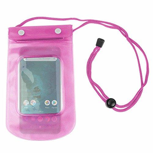 DURAGADGET Funda Impermeable Rosa para Smartphone DOOGEE X55, Ulefone S8  Pro, Xiaomi Mi A2 Lite - Ideal para Ddiferentes Actividades Al Aire Libre