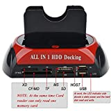 TULMAN All in 1 Docking Station Dual 2.5/3.5-Inch IDE SATA HDD Docking Station