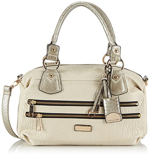 More & More Damen Rose Bowling Bag Bowlingtaschen, Beige (beige 6537), 39x24x25 cm