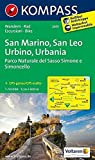San Marino - San Leo - Urbino - Urbania - Parco Naturale del Sasso Simone e Simoncello: Wanderkarte mit Radtouren. GPS-genau. 1:50000 (KOMPASS-Wanderkarten, Band 2455) -