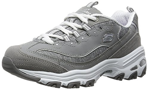 Skechers (SKEES) - D'Lites-Biggest Fan, Scarpa Tecnica da donna, grigio (gyw), 38
