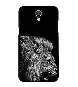 Fuson Premium 2D Back Case Cover Fierce Tiger With black Background Degined For Samsung Galaxy Mega 2 SM-G750H