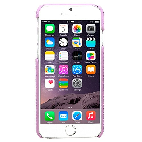 Phone case & Hülle Für IPhone 6 & 6S, Shimmering Powder Galvanisieren Kunststoff Hard Case ( Color : Pink ) Purple