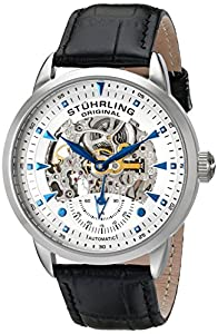 Stührling Reloj 133.33152 de Caballero movimiento automático con correa de piel de Diamant Feuer