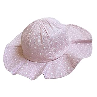Alxcio Kids Baby Sun Hat Cap Cotton Breathable Summer Outdoor Girls Hat Wide Brim Sun Protection (1-4 Years Old)