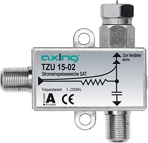 Axing TZU 15-02 SAT-Stromeinspeiseweiche zum Fernspeisen von Verstärkern BVS SVS