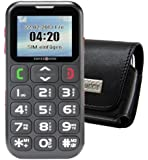 Original MTT Quertasche für / Primo 215 by Doro / Horizontal Tasche Ledertasche Handytasche Etui mit Clip und Sicherheitsschlaufe*
