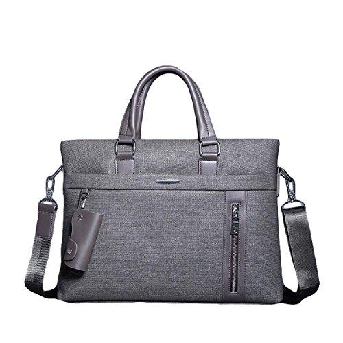 Männer Handtaschen-Geschäfts-Beutel-Computer-Aktenkoffer-Beutel-freie Schulter-Beutel-beiläufige Art Und Weise Grey2