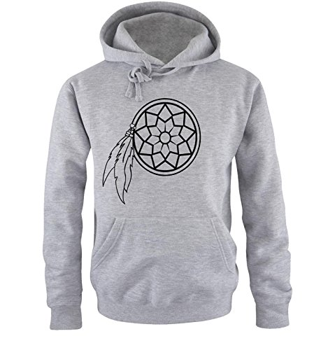 Comedy Shirts - DREAM CATCHER - Uomo Hoodie cappuccio sweater - taglia S-XXL different colors grigio / nero