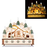 ChristmasDreams Schwibbogen mit weihnachtlicher Krippenszene, Timer, 13 LEDs, 31 cm