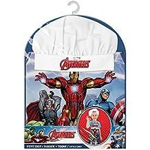 Suncity Marvel Avengers (2-Teilig) Delantal y Gorro Chef, Carbón, 15 x 25 x 12 cm