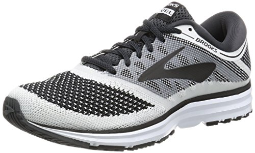 Brooks Revel, Scarpe da Running Uomo, Grigio (White/Anthracite/Black 1D155), 42 EU