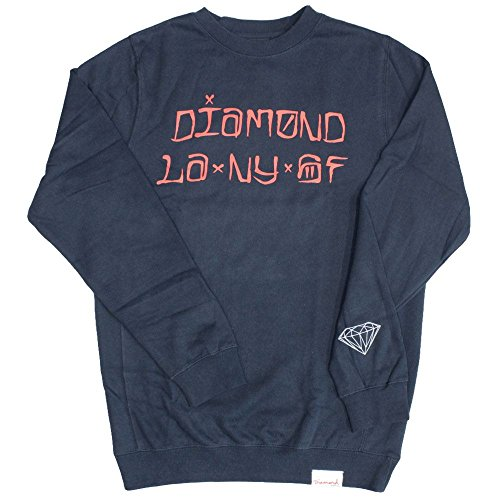 Diamond Supply Co. Cities Sweatshirt Navy (Co Supply Pullover Diamond)