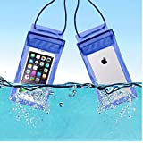 SaleOn™ Strong 3 Layer Protection Sealing Swimming Bags Waterproof Under Water Pouch Cover for Mobile(6.25 X 4.25 Inch) (Blue)