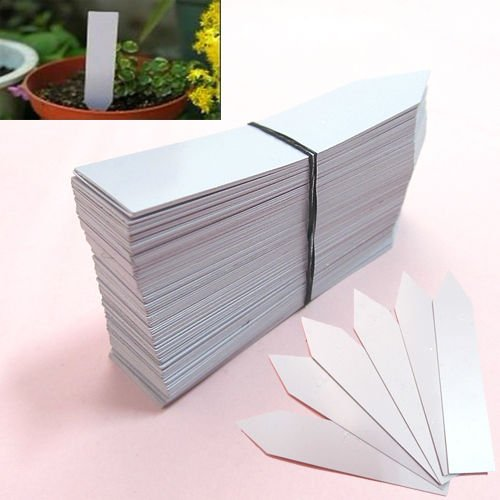 10010,2cm weiß Kunststoff Pflanze Samen Etiketten Topf Marker Kinderzimmer Gartenstecker Tags