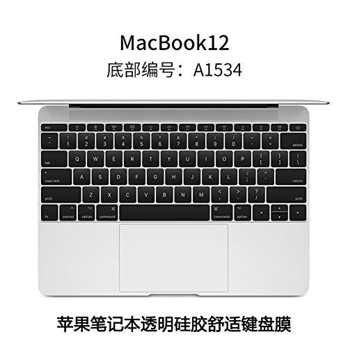 Preisvergleich Produktbild LCRGMPC Notebook-Computer Tastatur Schutzzubehör Film Transparent Staub Full Coverage Tastaturfilm Macbook12 Zoll A1534,  A1534 Komfortable Modelle
