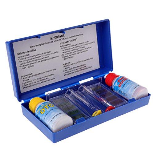 Qiman PH Chlor Wasserqualität Test Kit Schwimmbad Aquarium Zubehör Tester -