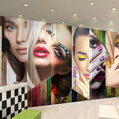Poowef 3D Wallpaper Papel Tapiz Personalizado Moda Barber Shop Papel Tapiz Pintado A Mano Acuarelas En Una Peluquería Peluquería Secador De Papel Tapiz