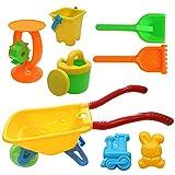Set carriola con Accessori Colorati Divertenti. Ideale per Giochi da Spiaggia e Giardino. Perfetta per Neonati e Bambini