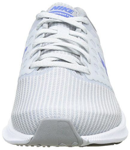 Nike Downshifter 7, Scarpe Sportive Outdoor Donna Argento (Pure Platinum / Midnight Blue / Wolf Grey / White)