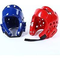 Casco de Boxeo para Niños para Taekwondo Judo Martial Arts Sparring Casco Gear Head Protector, Color Rojo, Tamaño Small