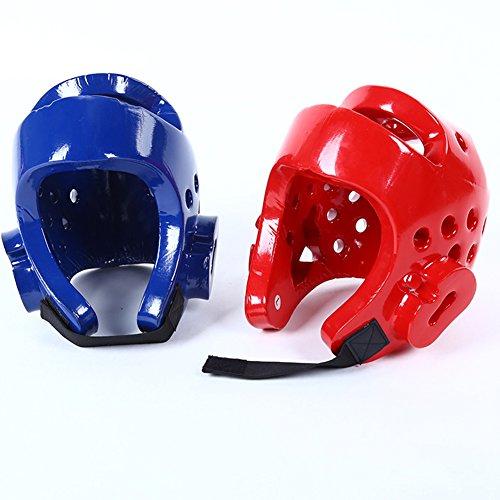 Casco de Boxeo para niños para Taekwondo Judo Martial Arts Sparring Casco Gear Head Protector, Color...