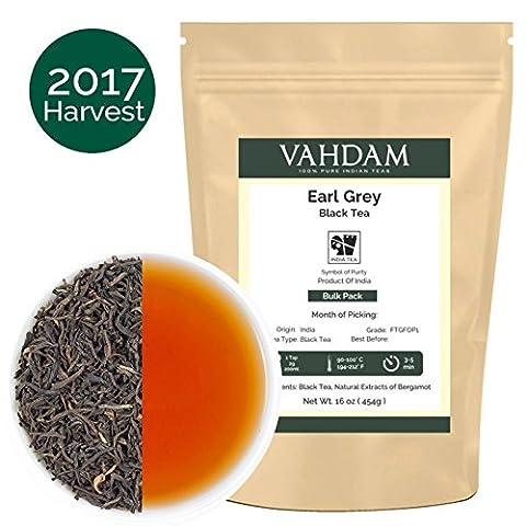 Imperial Earl Grey Tea Leaves (200+ Cups), 100% Natural Bergamot Oil blended with Garden Fresh Black Tea, Floral & Citrusy, 16-ounce Bag, Garden Fresh Earl Grey Tea Loose Leaf