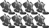 normani 8 Paar Unisex Running Sneakers mit speziellen Funktionen zum Laufen und für den Alltag - Frotteesohle und Stützfunktion Farbe Excalibur Größe 39/42