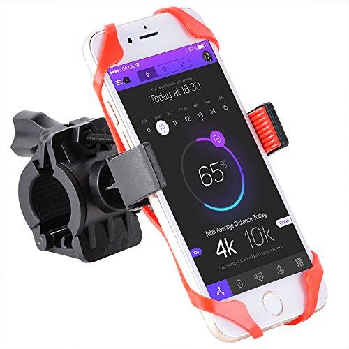 acefox supporto bici moto halterunge Mount 360gradi di rotazione titolare nero e rosso per Smartphone