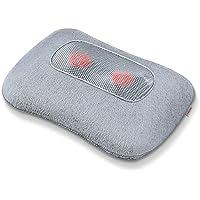 Beurer MG 145 Rücken-Nacken-Massagegerät für eine entspannende Shiatsu Massage, Wärmefunktion, waschbarer Bezug, 4 Massageköpfe, 34x23x11cm, grau