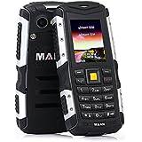 [Versión 3G ] HAMSWAN Telefóno Moviles libre [Regalos San Valentín Hombre] Sumergible Anti-Golpes, Polvos y Aguas Soporte Cámara Bluetooth con Batería de 2570mAh que Trabaja 720 Horas (Gris)