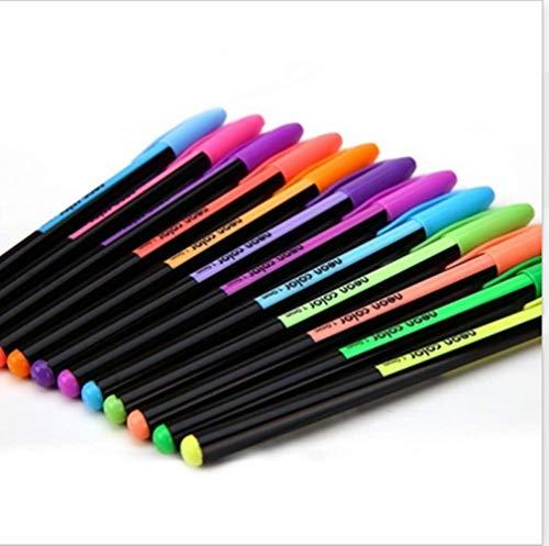 48 stücke Gelschreiber Gel Refills Rollerball Farbiger Stift Tintenroller Pastell Neon Glitter Gefärbt Pen Zeichnung Farben Textmarker (Bunt) -