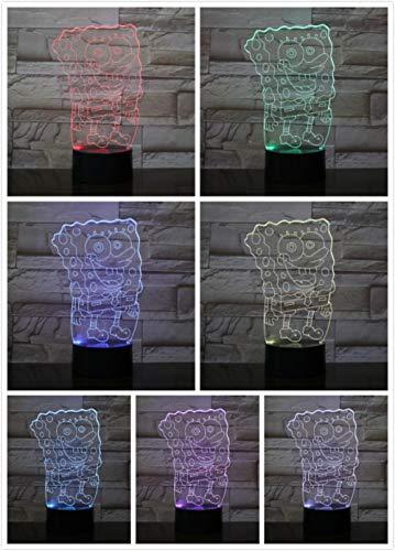 Cflegend 3d nachtlicht (touch + fernbedienung) charakter film tier cartoon dekoration gradienten licht kinderspielzeug party licht led7 farbe usb schlaf beleuchtung
