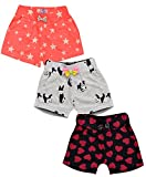Aatu Kutty Girl's Shorts (Pack of 3) (ATKUGLSHRT01 Red 2-3 Years)